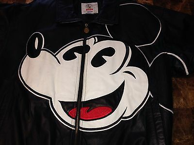 ⭐️ SALE��RARE LEATHER COLLECTABLE DISNEY'S MICKEY MOUSE Jacket/Coat