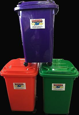 Bin 60L Mini Wheelie Bin Kids Toy Storage