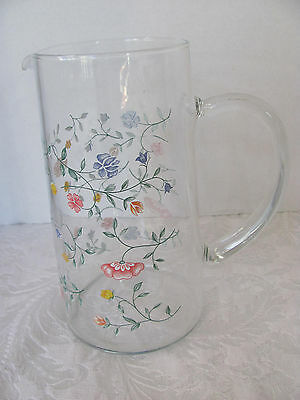 Johnson Brothers Summer Chintz - Glass Pitcher - Holds Approx 6 Cups