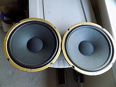 """Pioneer 10"""" Woofers Set from CS-G103 Part #18374 marked 6.3 ohms measure 7"""