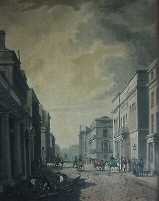 CHARLES STREET IN LONDON -  colorierter Stahlstich um 1840
