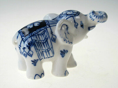 Doll house Miniature Collectible Ceramic Siam ELEPHANT Figurine Wild Animal