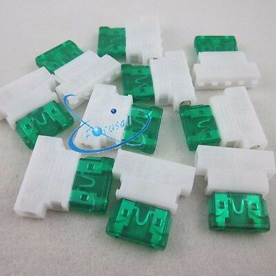 10pcs Auto Middle Medium Standard Fuse Holder +30A Fuse for Car Boat Truck Blade