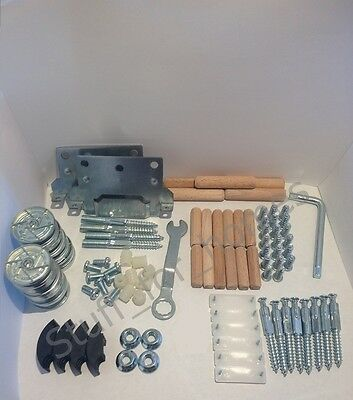 IKEA MALM COMPLETE SET OF SCREWS AND FIXINGS High & Low Model Bed Frame Nail