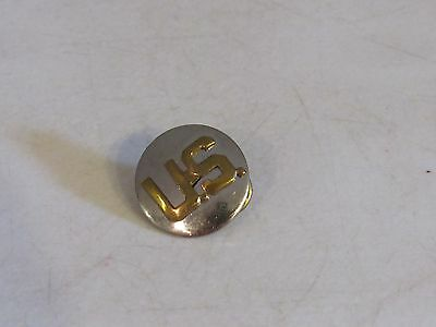 VTG US Lapel Hat Pin Brooch USN USA ARMY USMC Military Silver Gold Two Tone