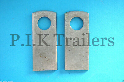 2 x Weld-on Plates for Baby Antiluce M8 Trailer Tailgate Fastener
