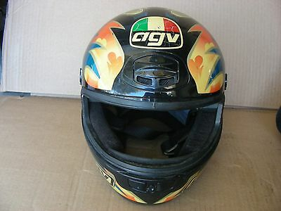 A G V  AGV MOTORCYCLE HELMET / ROYAL FLUSH and 4 OF A KIND