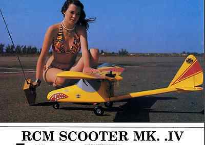 """""""Scooter MK IV"""" 65.5 inch wing  RC Model AIrplane Printed Plans"""