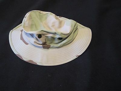 NEW US GI ISSUE  3 COLOR DESERT CAMO BOONIE HAT SIZE 7 3/4.