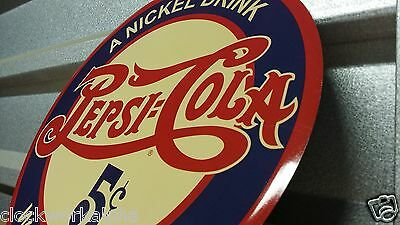 PEPSI COLA Round  SIGN nickle drink Soda Crush Cooler Machine Bottle Mobil Coke