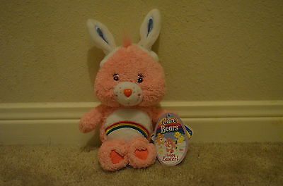"""7.5"""" Care Bears 2004 Easter Collection - Cheer Bear"""