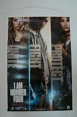 Autographed I Am Number Four Movie Poster