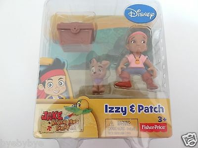 NEW DISNEY JAKE & THE NEVERLAND PIRATES IZZY & PATCH FIGURES + TREASURE CHEST