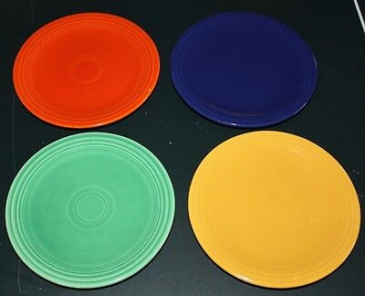 "Lot of 4 Vintage HOMER LAUGHLIN FIESTA Ware 6-1/4"" Salad Dessert Plates"