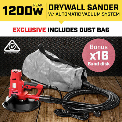 2-in-1 HANDHELD DUST FREE DRYWALL SANDER for PLASTER PLASTERBOARD GYPROCK WALL