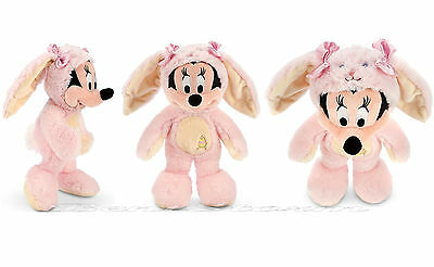 """NEW Disney Store EXC. 12"""" Minnie Mouse Plush Easter Bunny Soft Furry Stuffed Toy"""