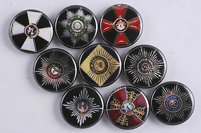 Magnet Lot Set of 9 Imperial Russia Russian Empire Order Medal Cross Made in USA