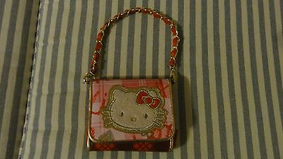 RED PINK PLAID HELLO KITTY WALLET/ MINI PURSE