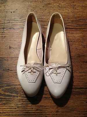 Vintage Amazing 1940 40s 40's saddle shoes all white leather and soles NOS rare