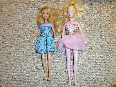 SET OF 2 BARBIE DOLLS  WITH BALLERINA and CASUAL DRESS
