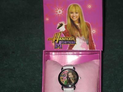 (NEW)HANNAH MONTANA MILEY CYRUS GIRL STAINLESS STEEL WATCH W/BOX GIFT