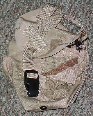 NEW US Army Military Surplus MOLLE II Desert Camo 1 QT GP Pouch Black Buckle