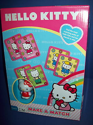 HELLO KITTY Make A Match Picture Game  - no reading required Age 3+     NISB new