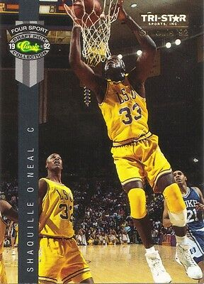 1992 Classic Four Sport # PR1 17 of 20 Tri-Star St. Louis Shaquille O'Neal Card