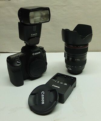 Canon EOS 6D bundle Black (Kit w/ 24-105mm Lens)  MINT w/Canon 430 EX II