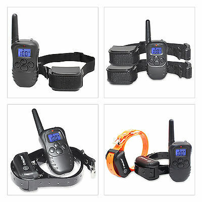 Rechargeable Waterproof Pet Dog Remote Shock Vibra Electric Training Collar US