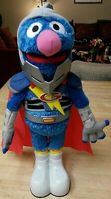 SESAME STREET FLYING SUPER GROVER 2.0 ELECTRONIC PLUSH DOLL PLAYSKOOL Talking