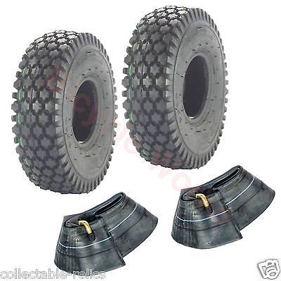 2X Tyre Tubes 4.10 / 3.50-4 Black Wheelchair Trolley Mobility Scooter 4.10X4 940