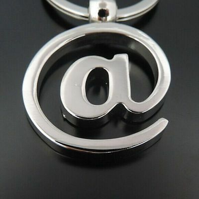 1pcs Silver Tone @ Key Chains Key Rings For  Gift Fashion Cool