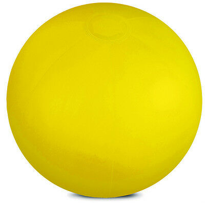 """INFLATABLE YELLOW 10"""" BEACH BALL SWIMMING POOL PARTIES HOLIDAY GARDEN KIDS SEA"""