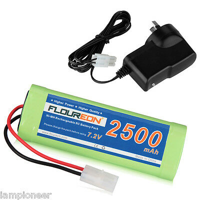 7.2V 2500mAh Rechargeable Battery Tamiya Plug Pack for RC Car Truck with Charger