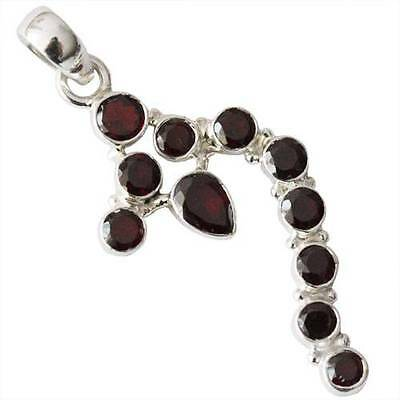 100% PURE SOLID 925 STERLING SILVER JEWELRY 1.96''GARNET NEW PENDANT  DCTP-223