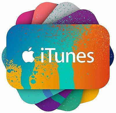 $25 Apple iTunes Gift Card, Music, iPod Music, iPhone Music, FREE SHIPPING!