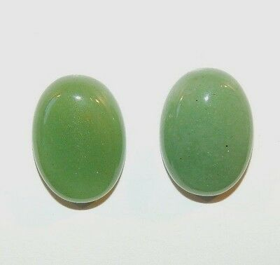 Aventurine Cabochons 13x18mm with 5.5mm dome Set of 2 (8528)