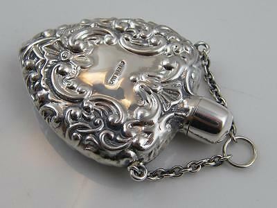 Sterling Silver Heart Shaped Scent Bottle