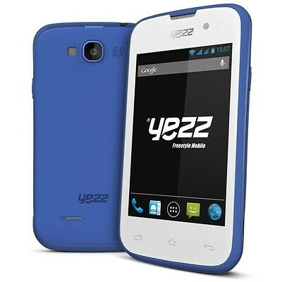 Yezz Andy A3.5EP Blue. Dual SIM Quad Band WiFi Android v.4.2 **Brand New**