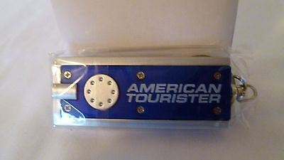 New Set of 4 American Tourister LED Keychain Flashlights (3 Red, 1 Blue)