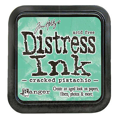 Tim Holtz Distress Ink Pad Full Size CRACKED PISTACHIO  Green, Grass