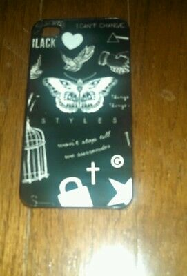 Harry Styles Tattoo Hard Back Case Cover Skin New For iPhone 4s Black