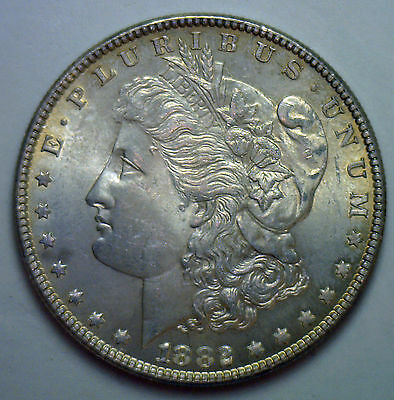 1882 Morgan Dollar Uncirculated MS United States Coin #R3