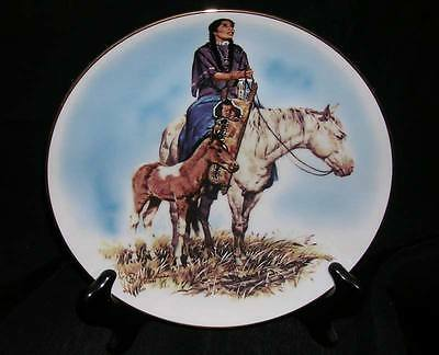 Prairie Woman : Mother Now... Collector Plate Schmid Jack Himes 1982