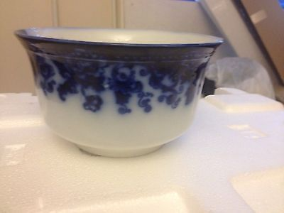 Antique Wood & Son Waste Bowl C. 1895 Gilding Mint Condition Flow Blue Rare