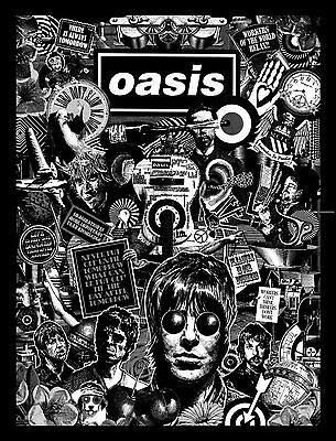 Oasis Black and White Art Print Poster Music Band OBW01 A3 A4 POSTER ART PRINT