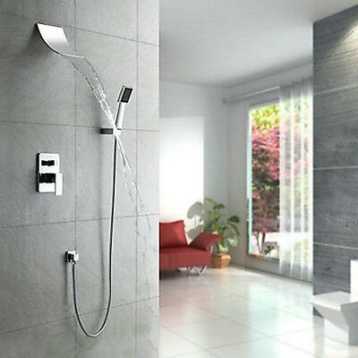 Bathroom wall mounted  Faucet chrome Solid brass Grand Shower Head Set QQ23
