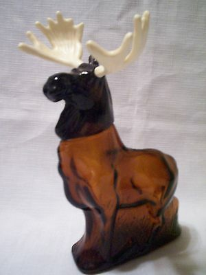 AVON ALASKAN MOOSE - AMBER GLASS 1974-75