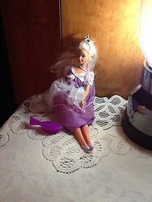 1966 Platinum Blonde Princess Barbie Doll Twist & Turn Indonesia Purple Gown